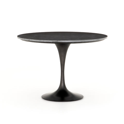 Black Tulip Dining Table in Bluestone