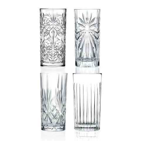Eco Crystal Mixology Highball Glasses - Set of 4