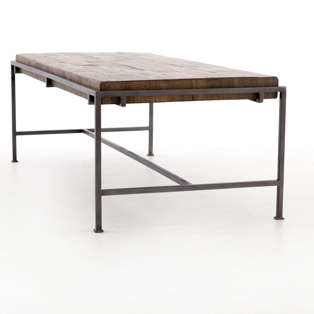 Gunmetal Meets Mango Coffee Table