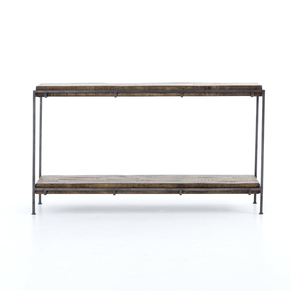 Gunmetal Meets Mango Console Table