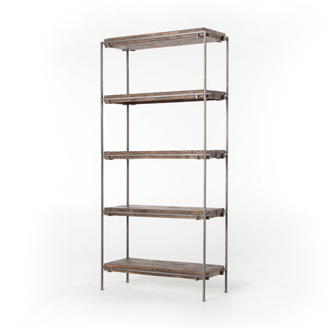 Gunmetal Meets Mango Bookshelf