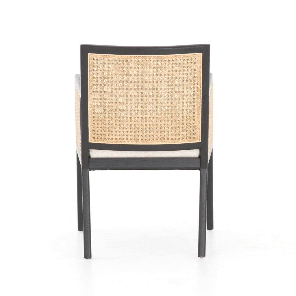 Natural Cane Dining Arm Chair