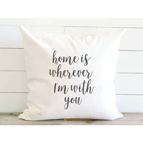 Home with You Cotton Canvas Pillow