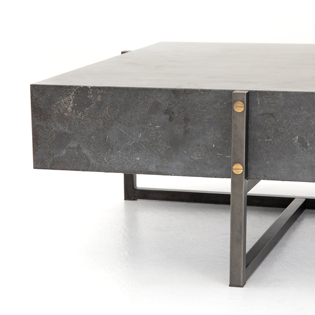 Industrial Bluestone Coffee Table