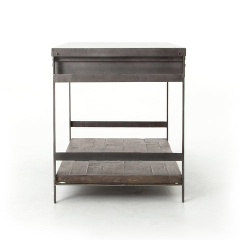 Industrial Mango Kitchen Island