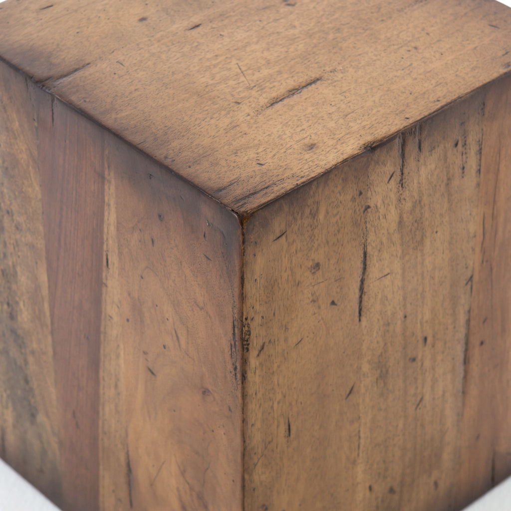 Knotted Fruitwood End Table