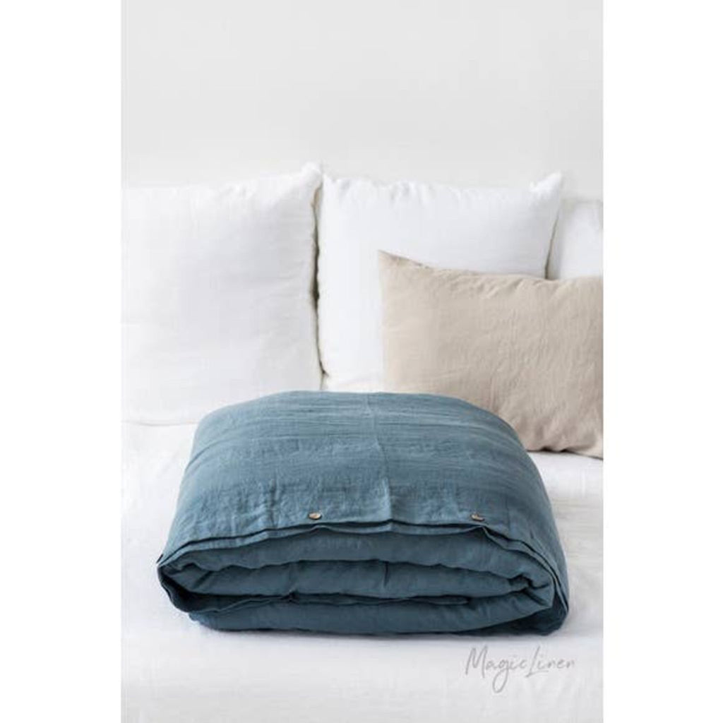 Gray Blue Duvet Cover