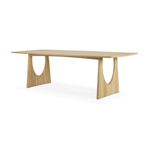 Oak Geometric Dining Table