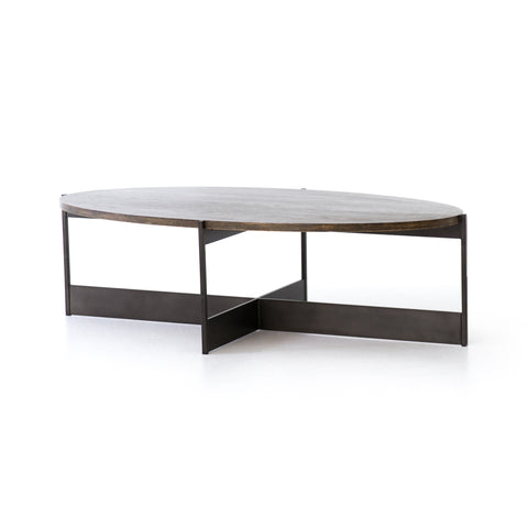 Offsetting Oval Coffee Table