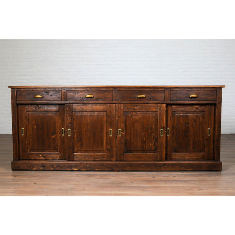 Parisian Sideboard, Wood Doors, Saddle