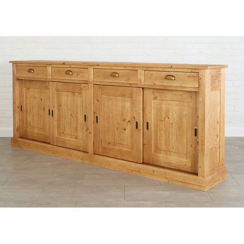 Parisian Sideboard, Wood Doors, Natural