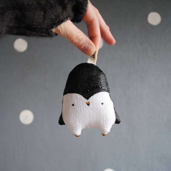 "Penguin Christmas Ornament 4"" Penguin Arctic Animal Totem"