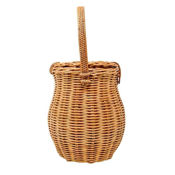 Phoebe Honeypot Bag - Rattan Handle