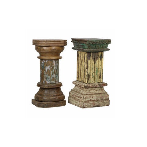 Reclaimed Pillar Pedestal