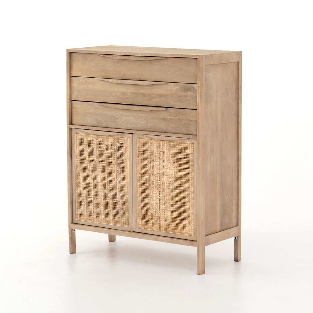 Caned Mango Tall Dresser