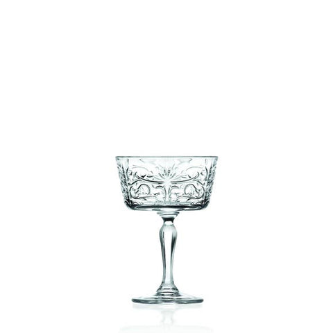 Eco Crystal Tattoo Champagne Glasses- 6 pk