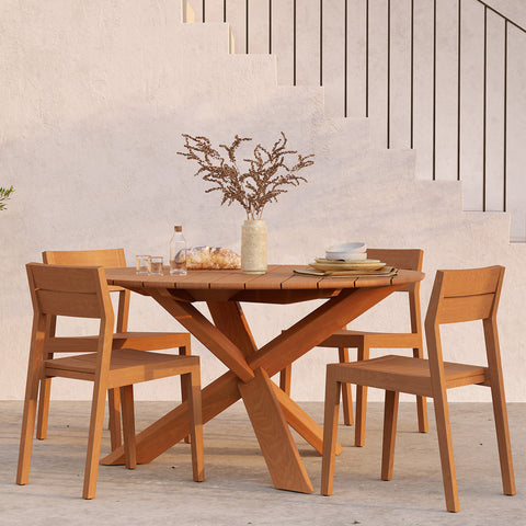 Teak Circle Outdoor Dining Table