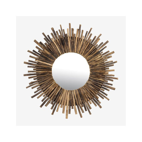 Twig Sunburst Mirror - Natural