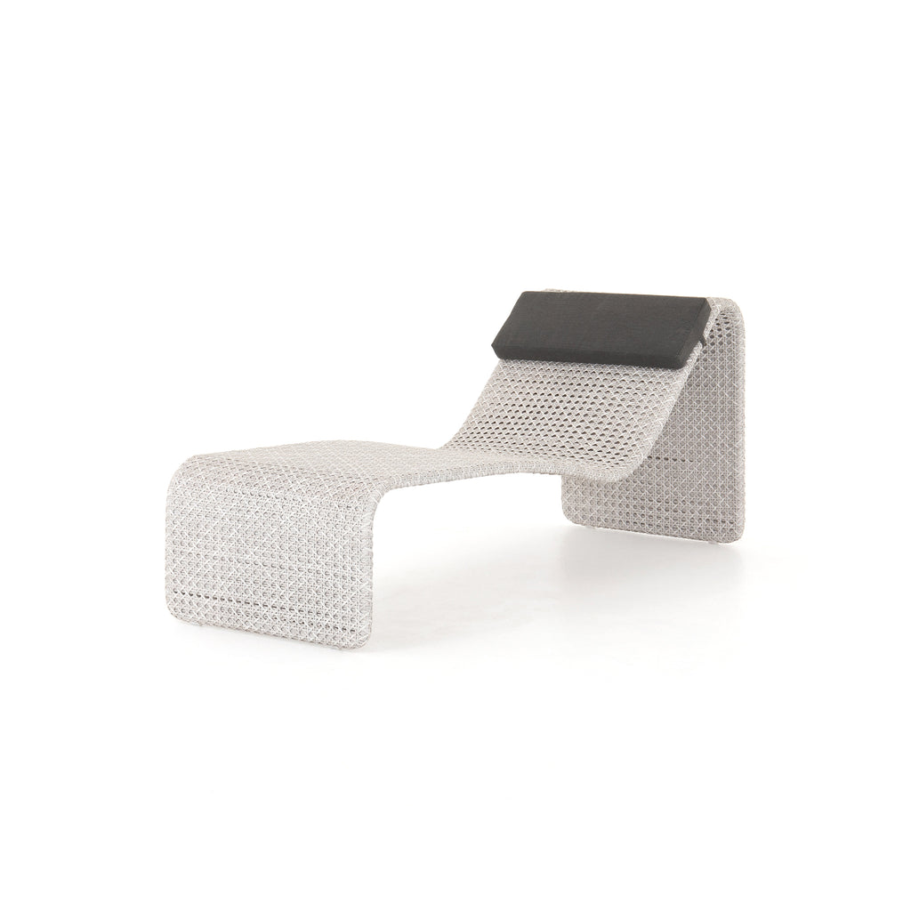 Weave Outdoor Woven Chaise- Brushed Grey