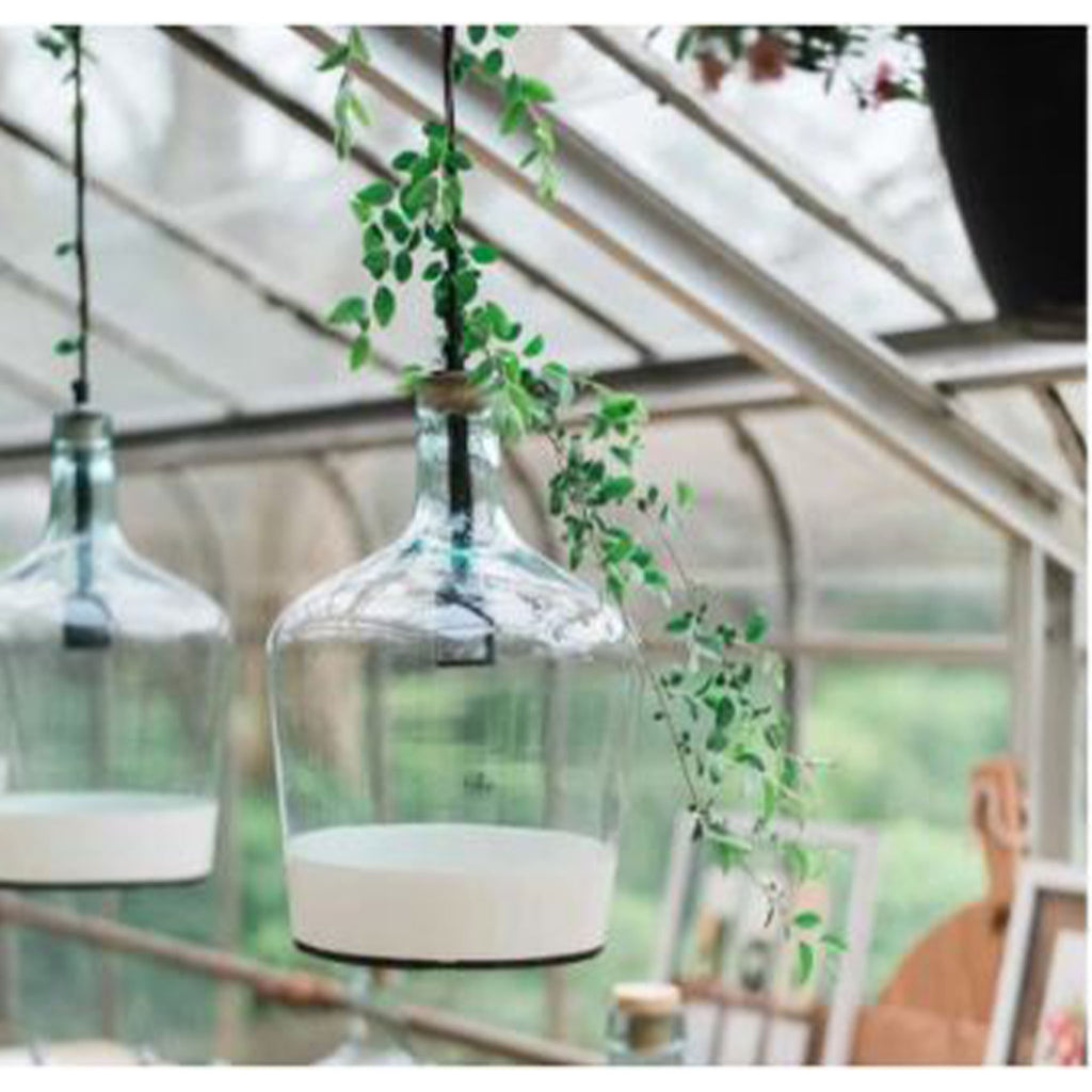 White Colorblock Demijohn Pendant