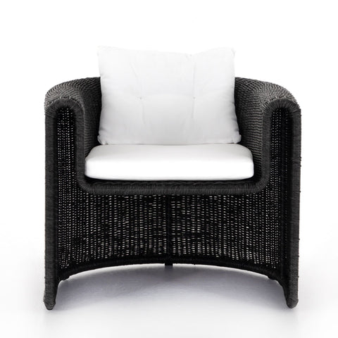 Woven Outdoor Lounge Chair- Coal