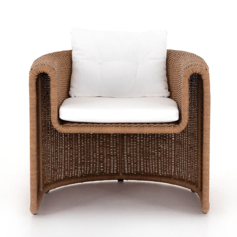 Woven Outdoor Lounge Chair- Natural