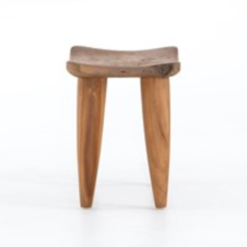 Honed Wood Stool