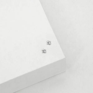 Cluster Stud Earrings - Silver