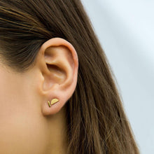 Mini Bar Stud Earrings - Gold