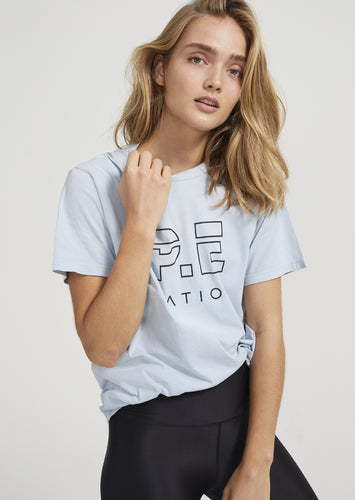 Heads Up Tee - Pale Blue