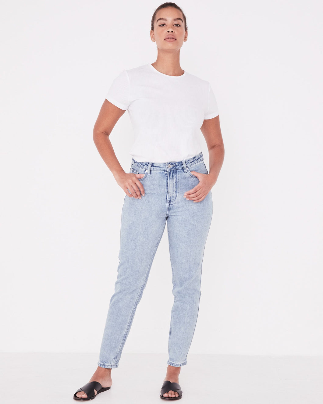 High Waist Rigid Jean - Stone Blue
