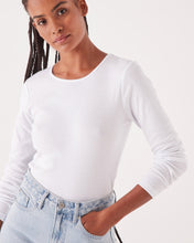 Kai Rib Long Sleeve Tee - White