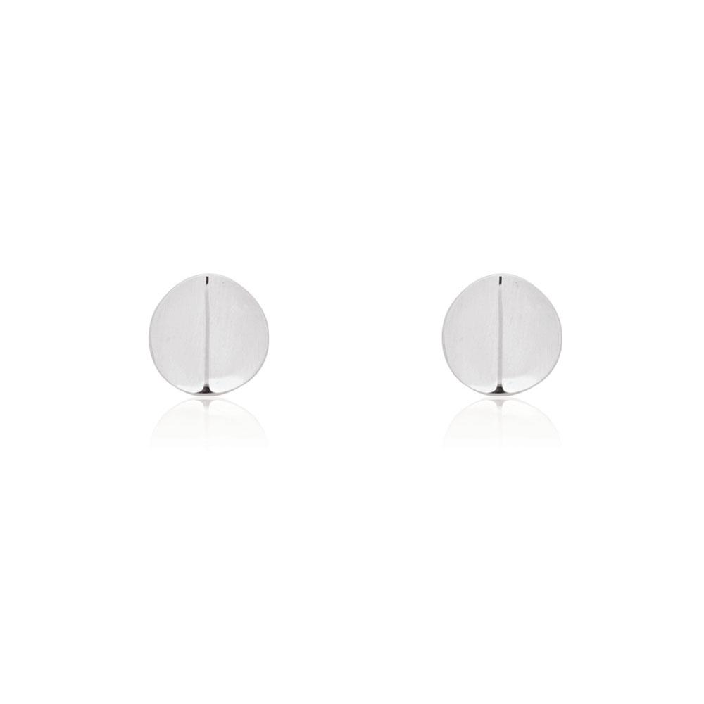 Ridge Stud Earrings - Silver