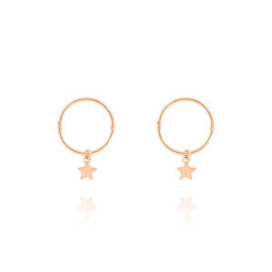 Tiny Star Sleeper Hoop - Gold