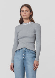 Woods Rib Long Sleeve Tee - Grey marle