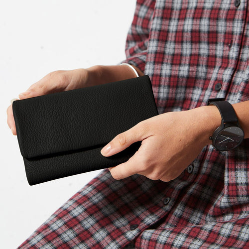 Status Anxiety Audrey Wallet - Black Pebble