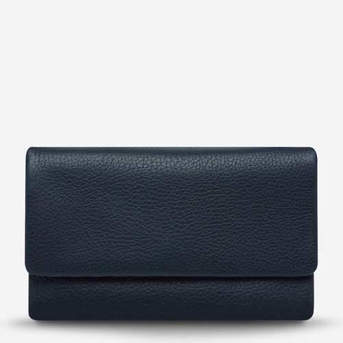 Status Anxiety Audrey Wallet - Navy Pebble