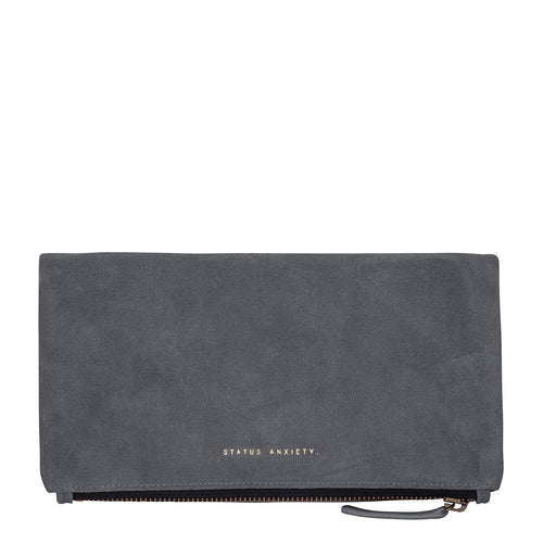 Status Anxiety Feel the Night Clutch - Slate