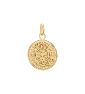 Tiny Treasure Coin Charm - Gold Vermeil