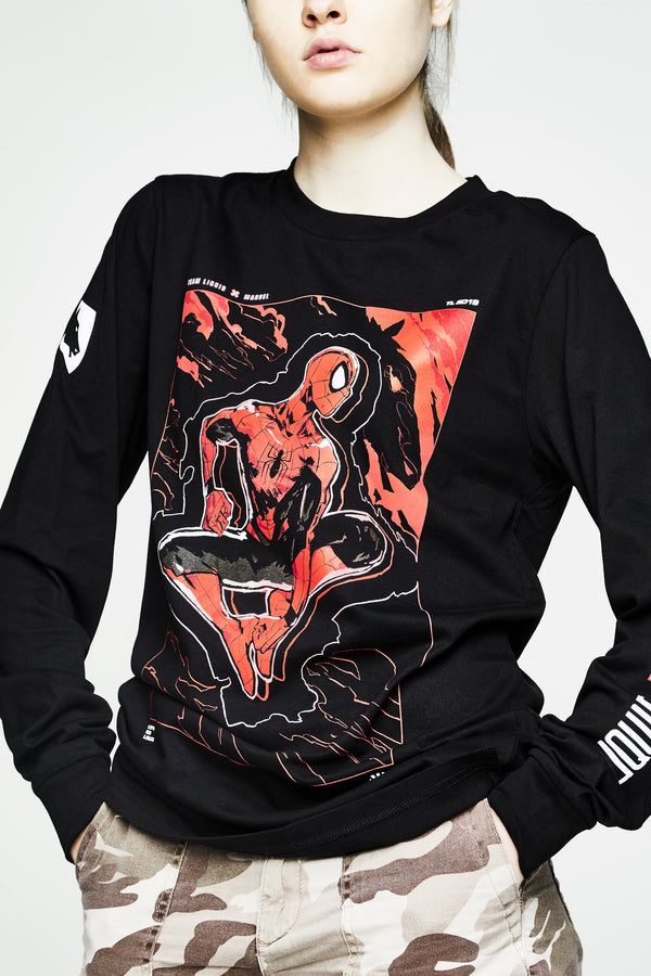 LIQUID x MARVEL SPIDER-MAN ARTWORK LONG SLEEVE TEE - Team Liquid