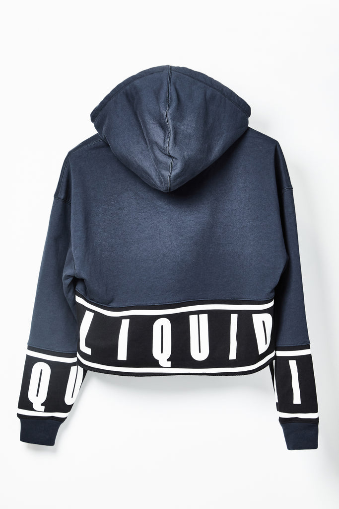 LIQUID COLOR BLOCKING CROP HOODIE - Team Liquid