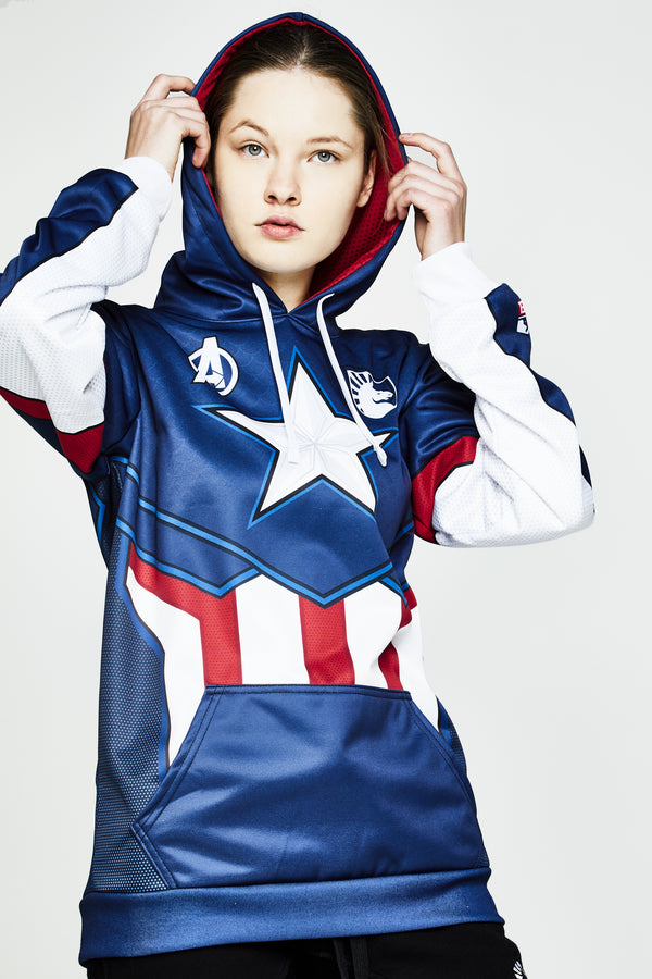 LIQUID x MARVEL CAPTAIN AMERICA JERSEY HOODIE - Team Liquid