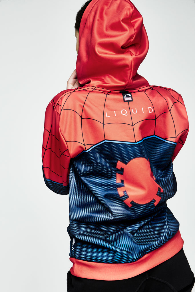 LIQUID x MARVEL SPIDER-MAN JERSEY HOODIE - Team Liquid