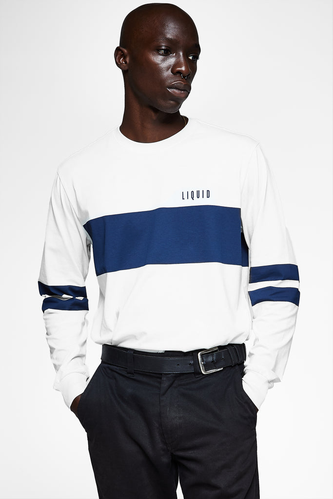 LIQUID BLOCK LONG SLEEVE STRIPE TEE - Team Liquid