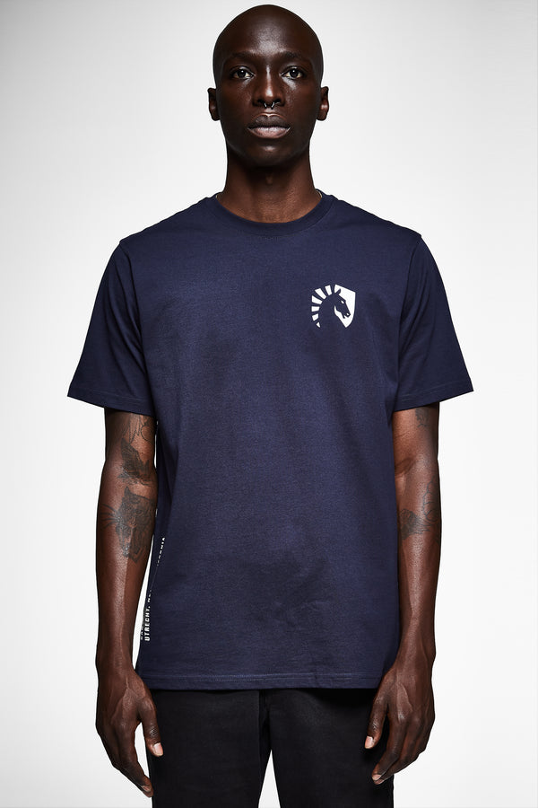 TEAM LIQUID GEOS SHORT SLEEVE TEE NAVY - Team Liquid