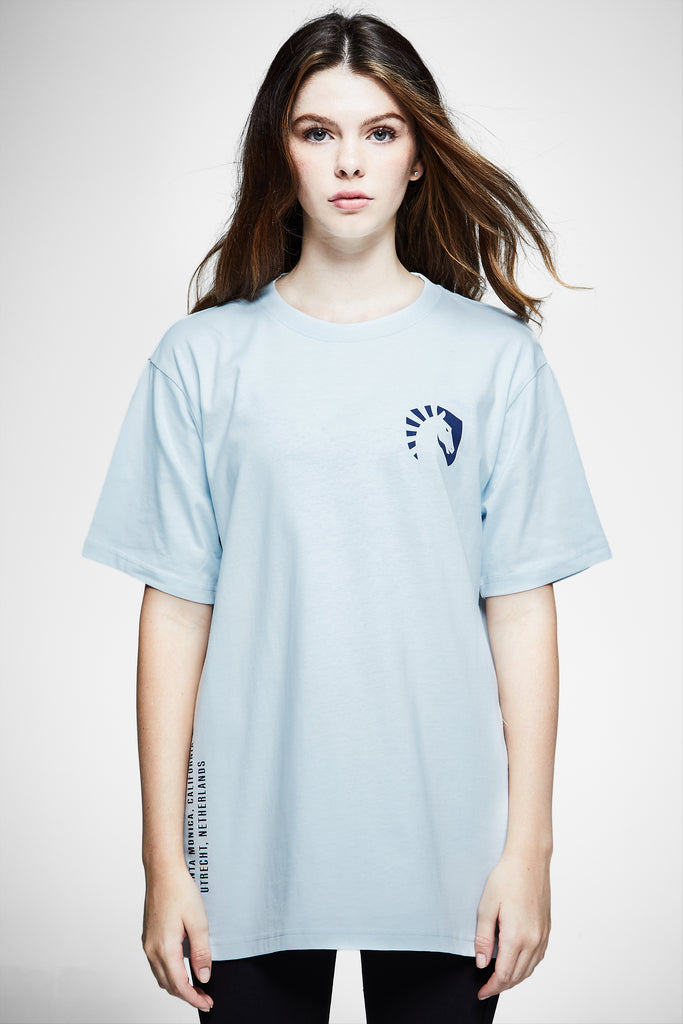 TEAM LIQUID GEOS SHORT SLEEVE TEE LIGHT BLUE - Team Liquid