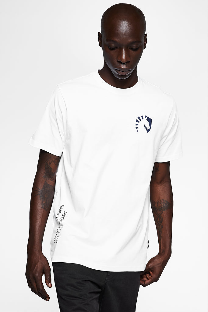 TEAM LIQUID GEOS SHORT SLEEVE TEE WHITE - Team Liquid