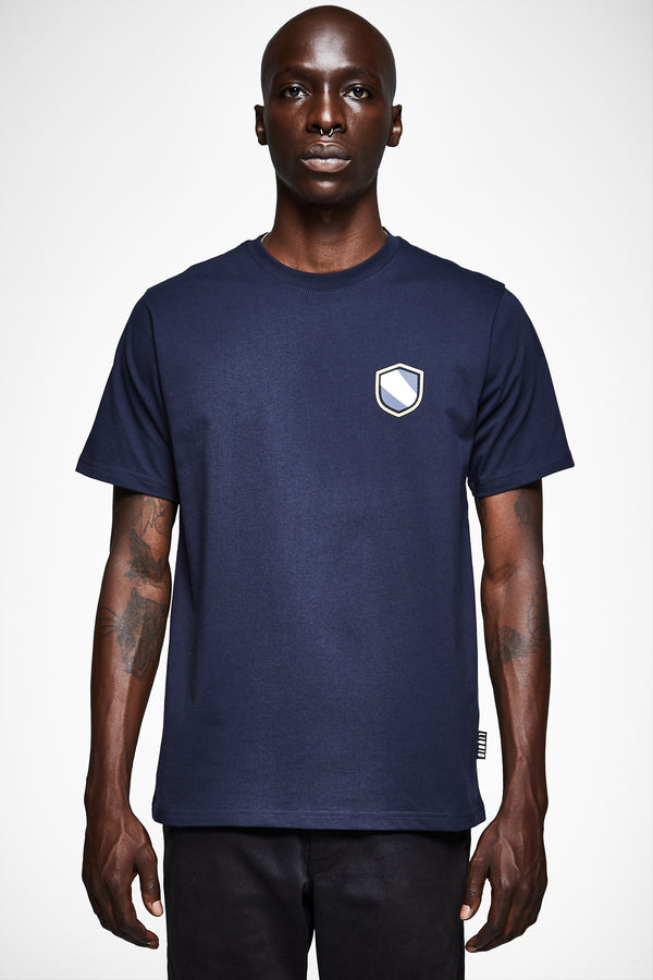 SHIELD EMBLEM SHORT SLEEVE TEE - NAVY - Team Liquid