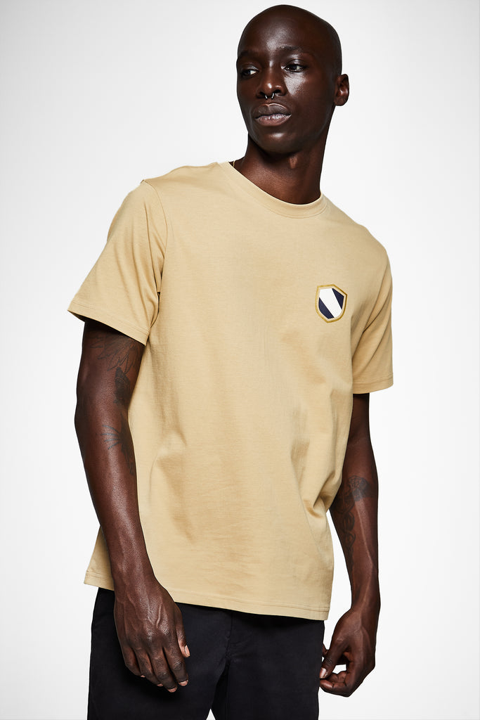 SHIELD EMBLEM SHORT SLEEVE TEE - TAUPE - Team Liquid