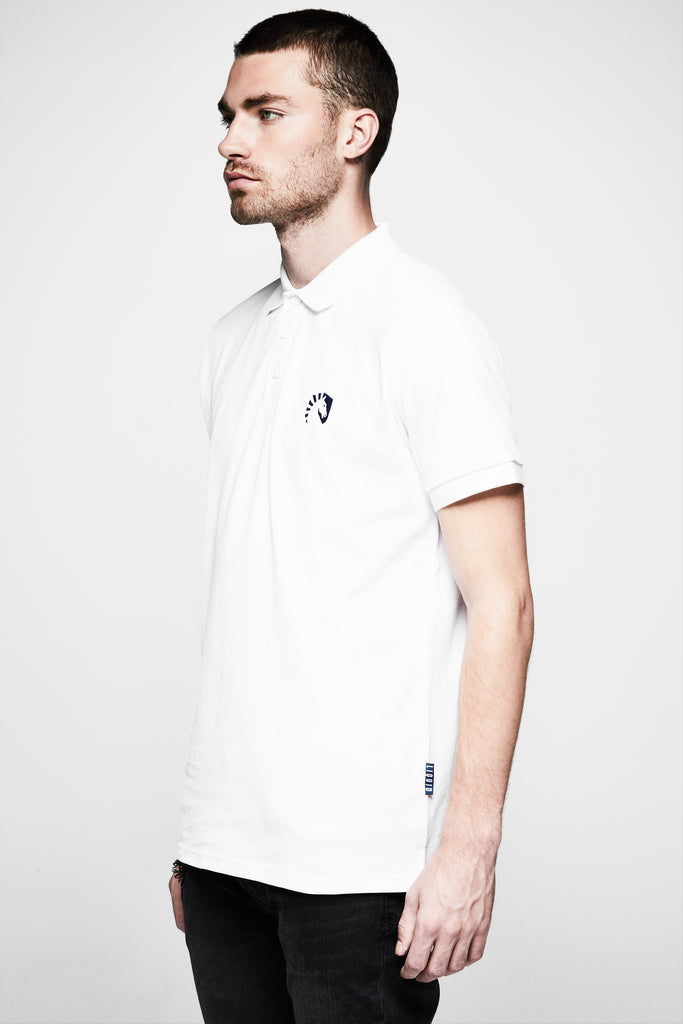 LIQUID HERITAGE SHORT SLEEVE POLO - WHITE - Team Liquid